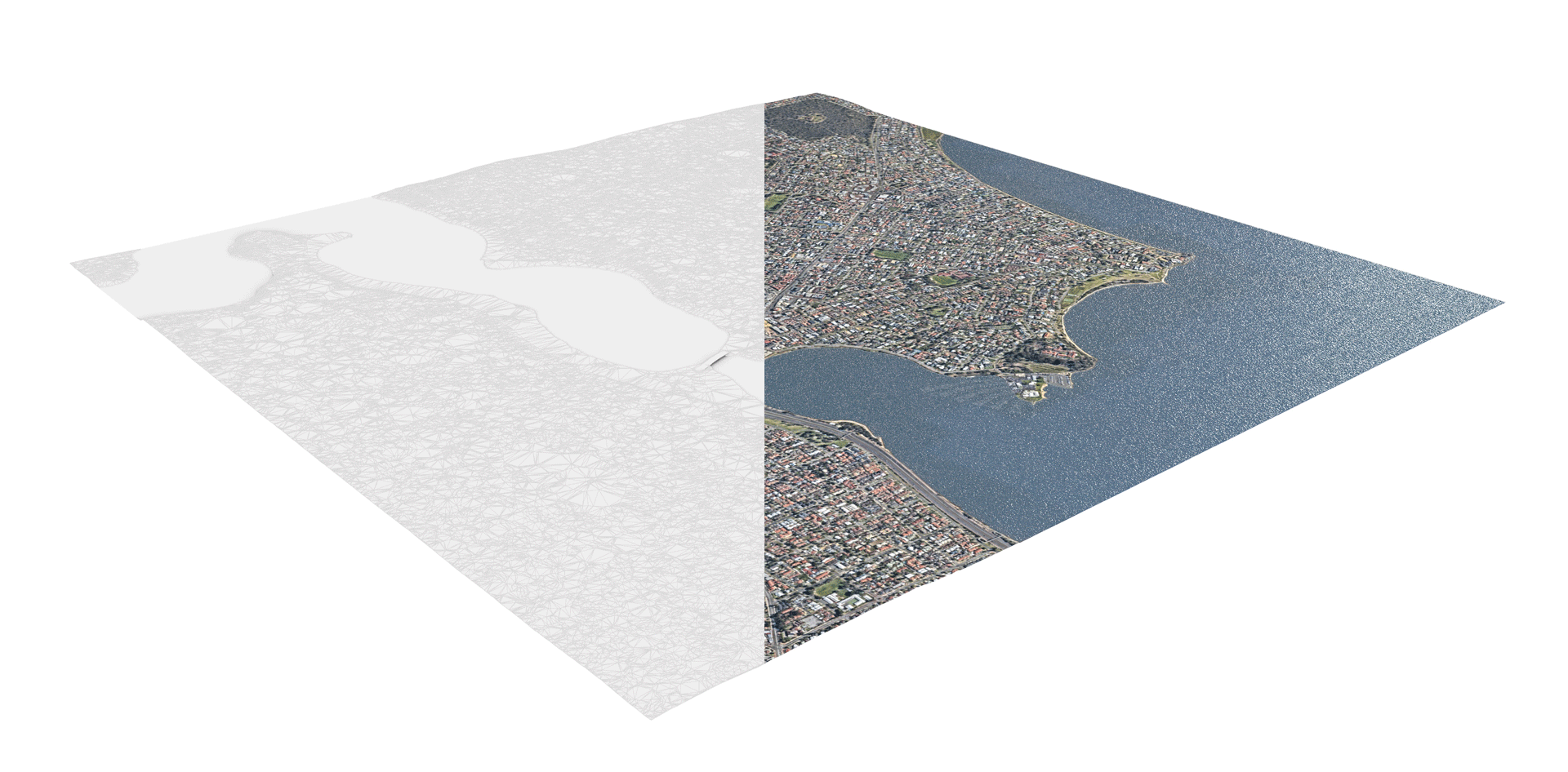 [Figure 2: Mesh and Aerial Texture overlay