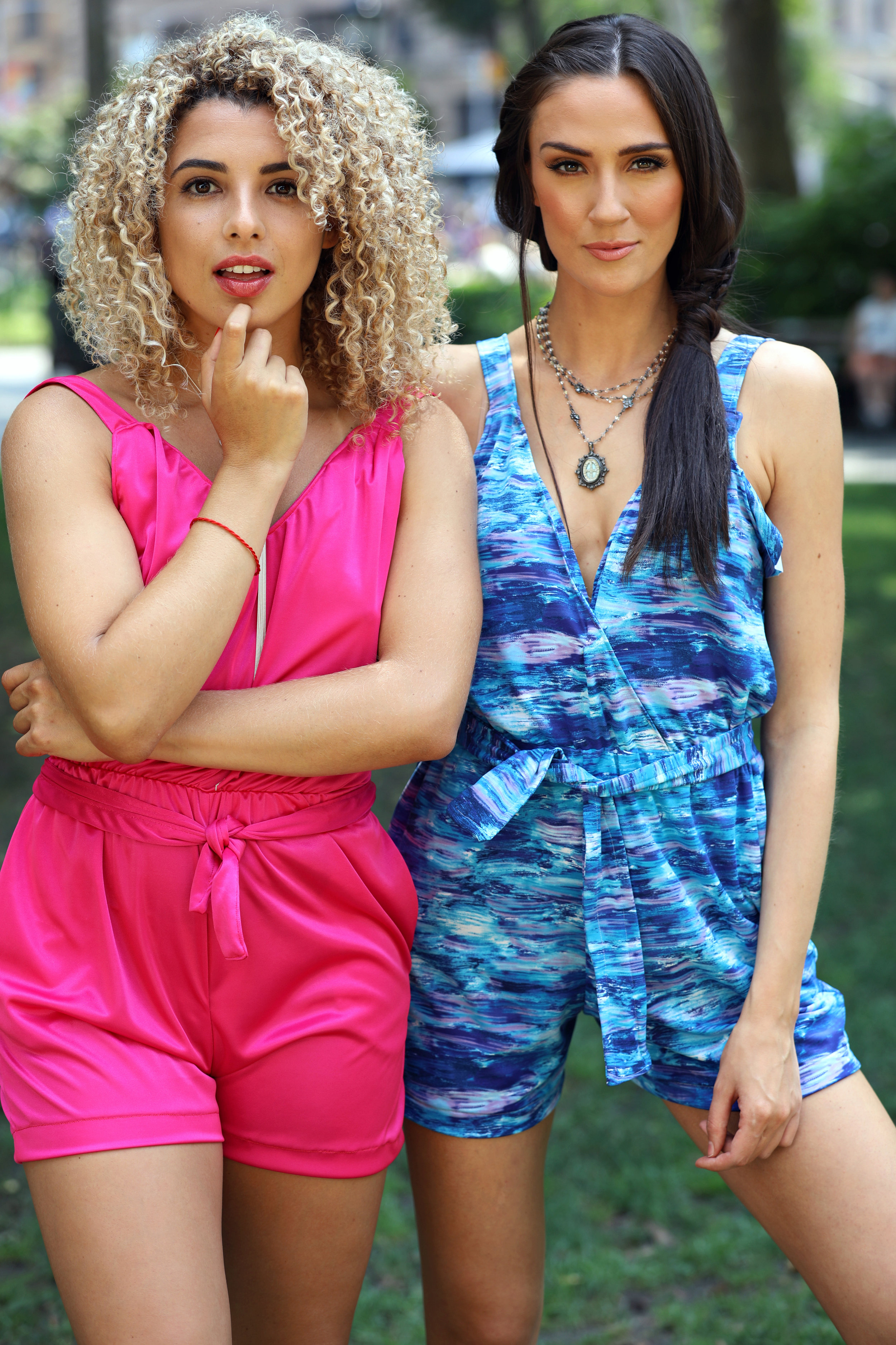 $75Paige - Our Hot Pink or Blue Moonstone Day Romper is all you need to do get run be sun fun.