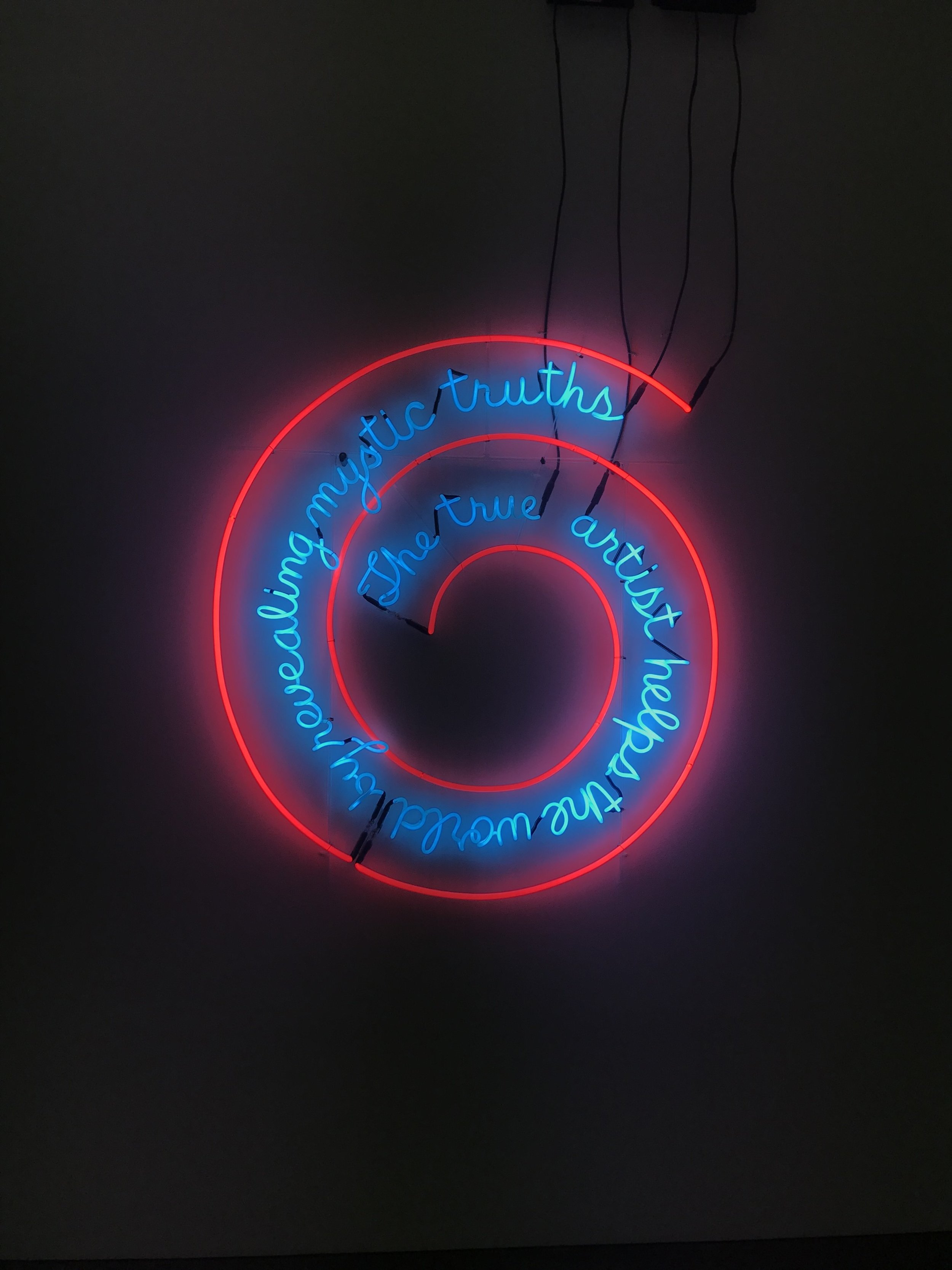 The Beautiful Bruce Nauman piece I saw in Philly!