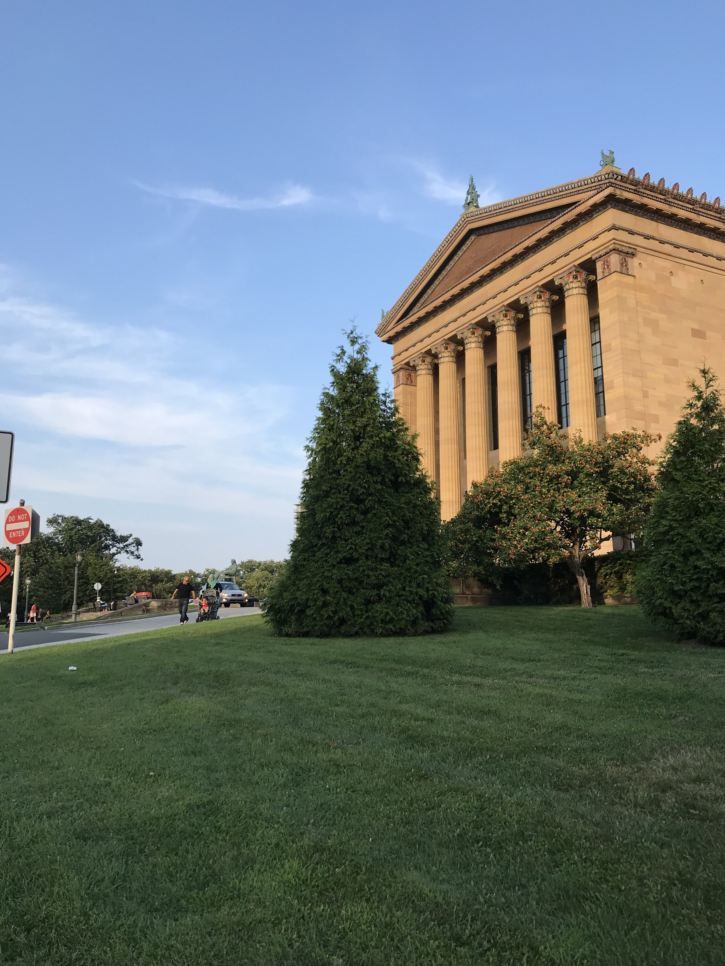 Philadelphia Museum of Art, AKA the location of the famous ROCKY stair scene!
