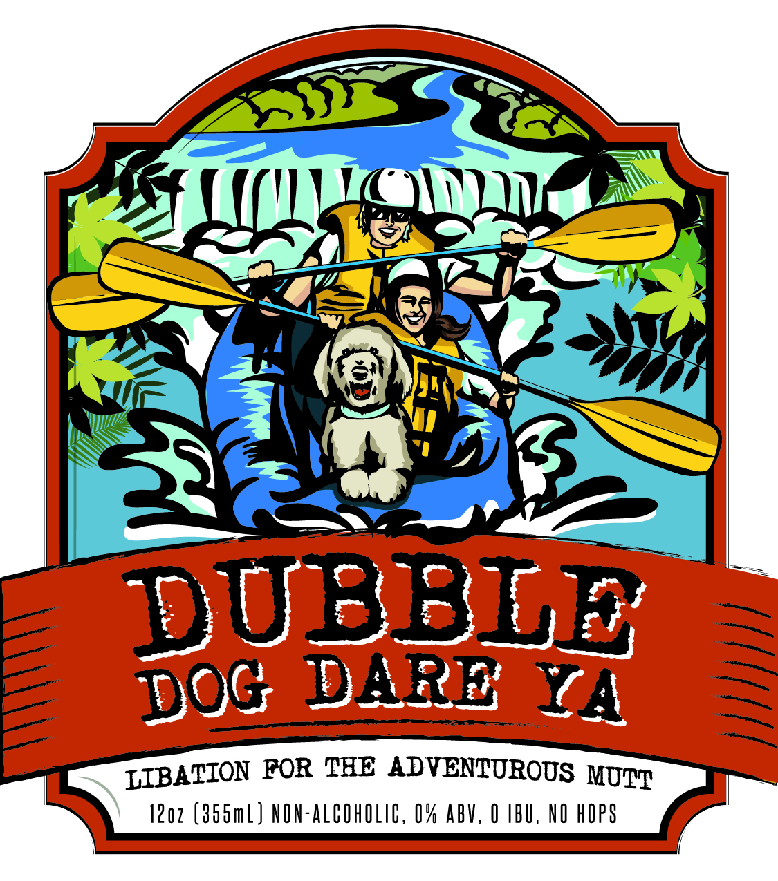happy dog beer co dubble dog dare ya brown ale