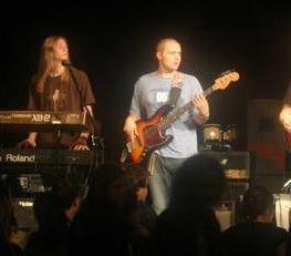 Dayne & Mike playing at a Hurricane Katrina Benefit, 2005.