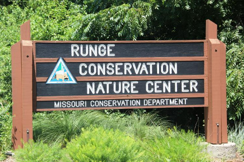 Runge Conservation Nature Center Sign