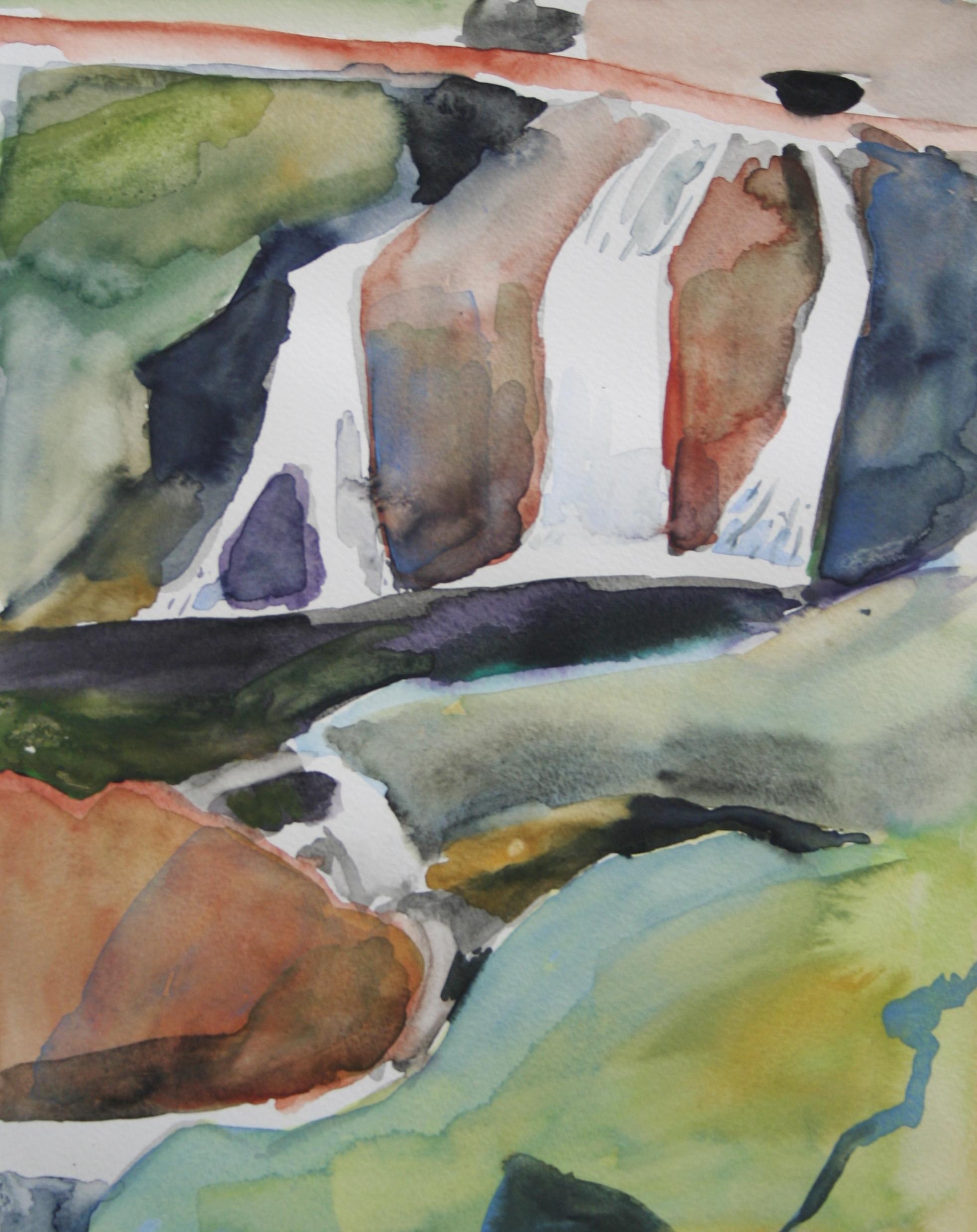 Waterfalls 2, Watercolor, 10.5 x 8 in, 2016
