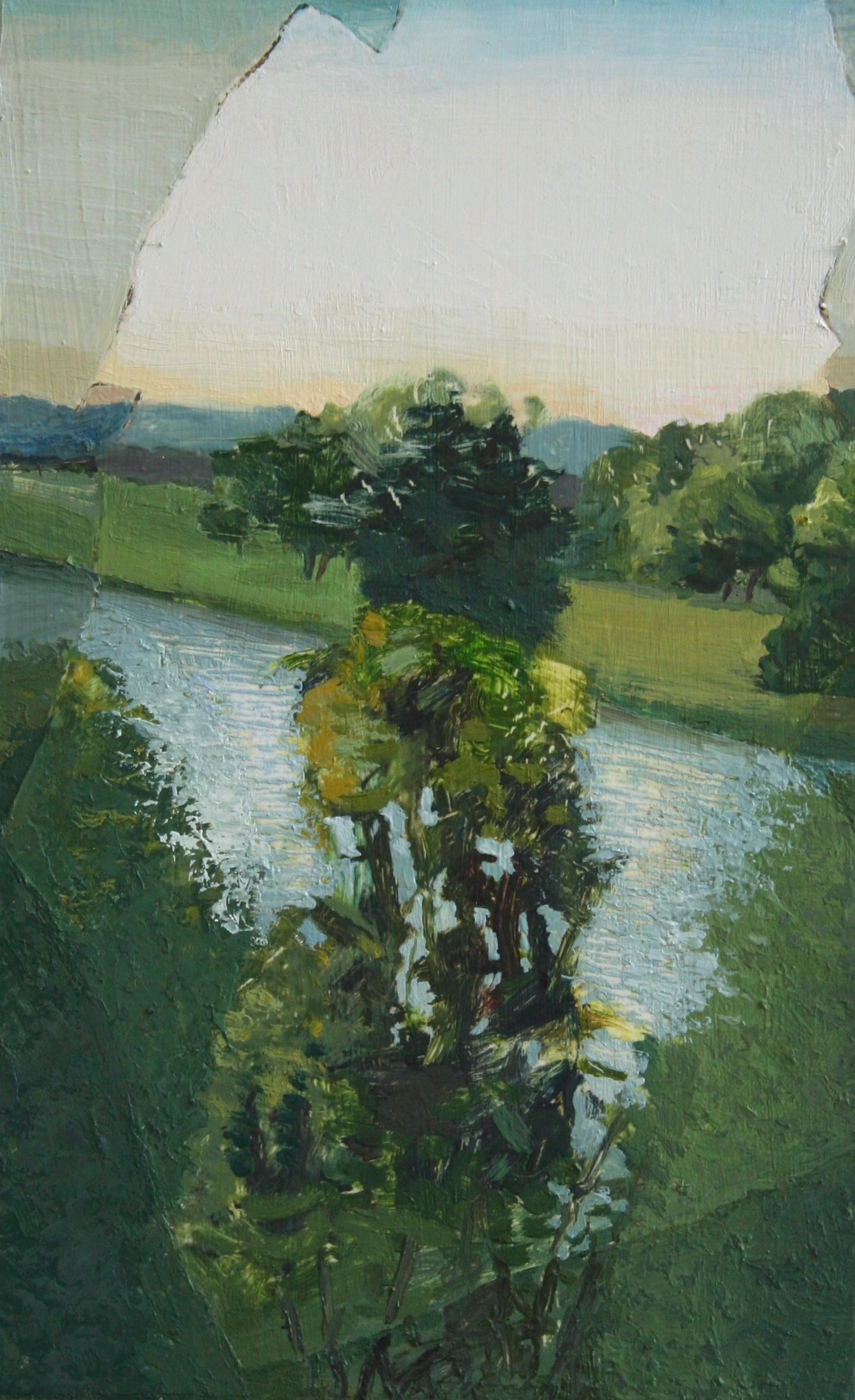 Summer River, Broken Window, 14.5 x 9 in, 2014
