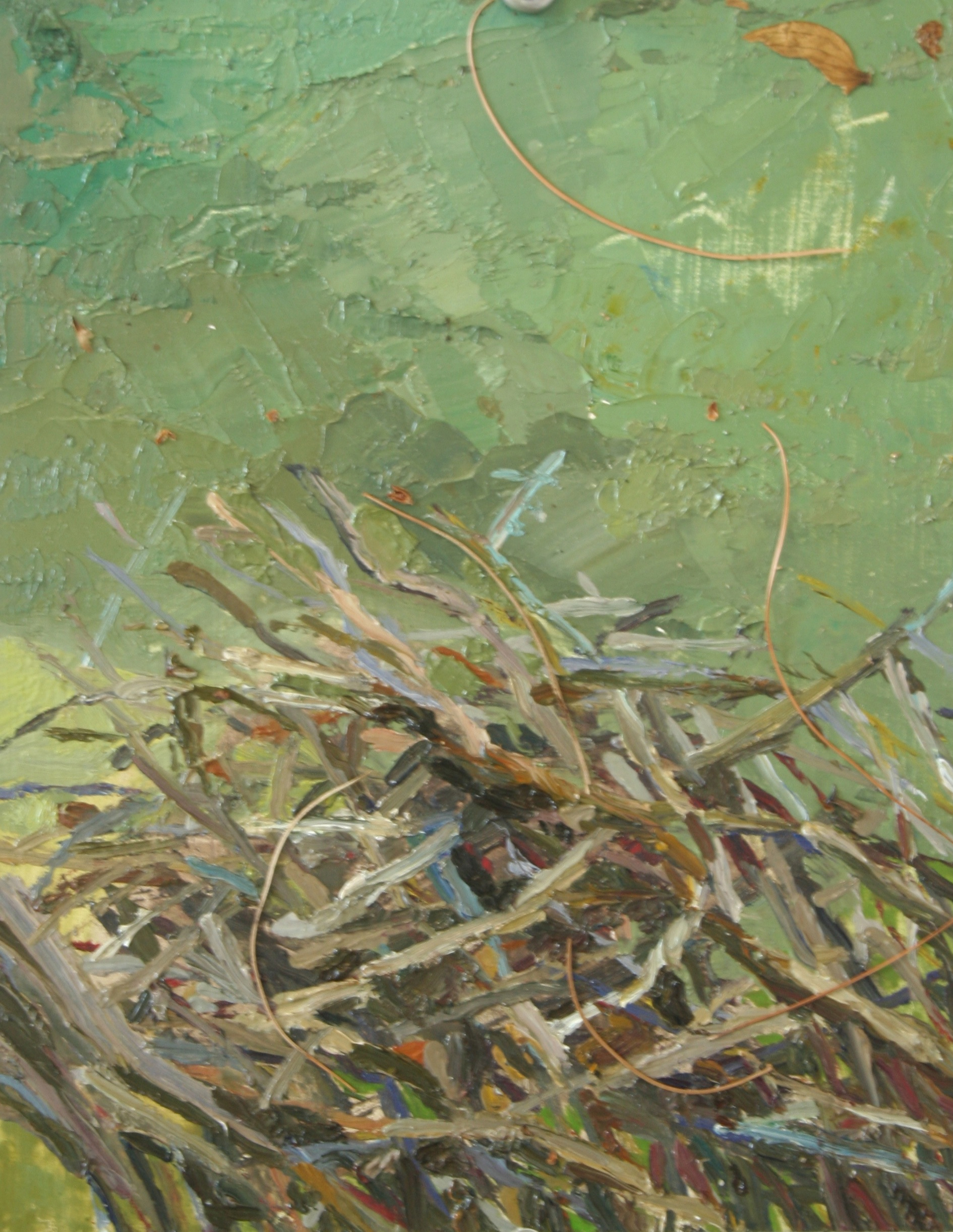 """Branches, Oil on panel, 8 x 6 """", 2014"""
