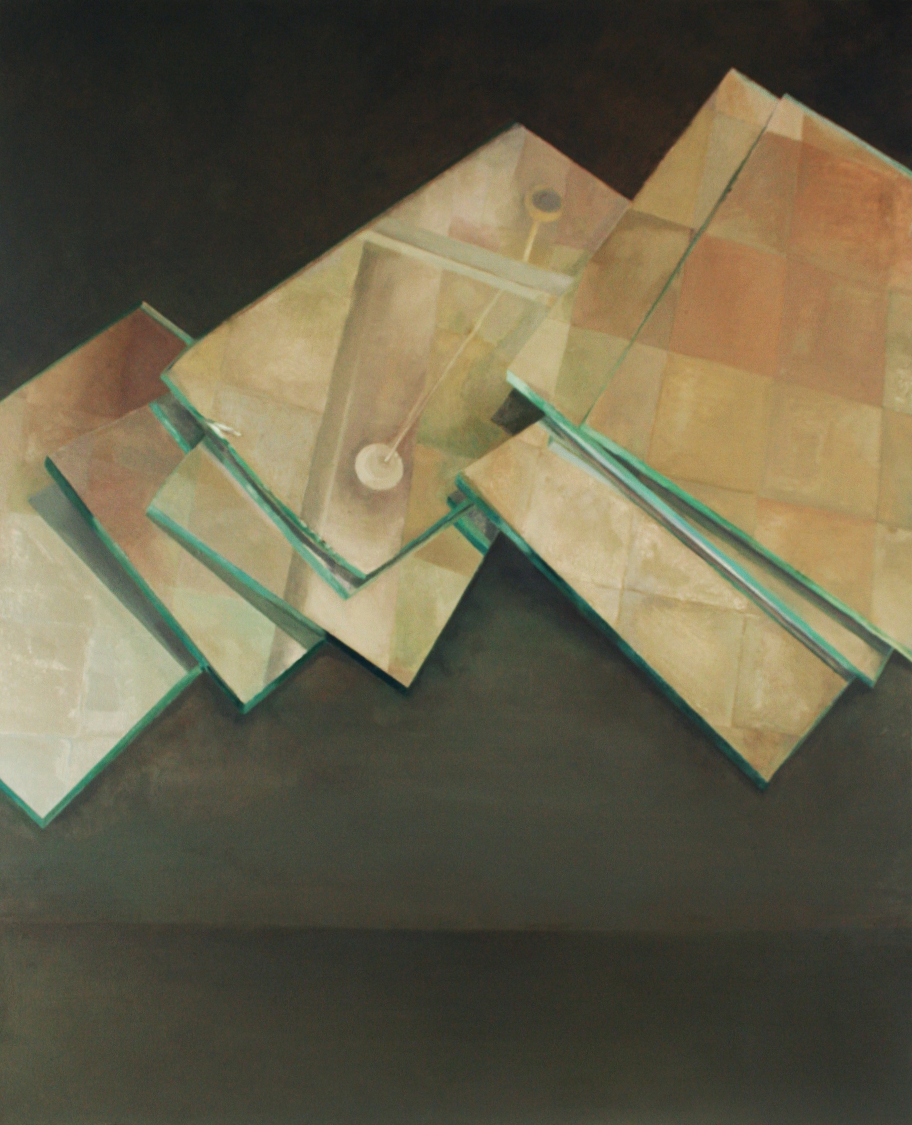 Looking Down/Looking Up, Oil on Canvas, 36 x 48 inches, 2011