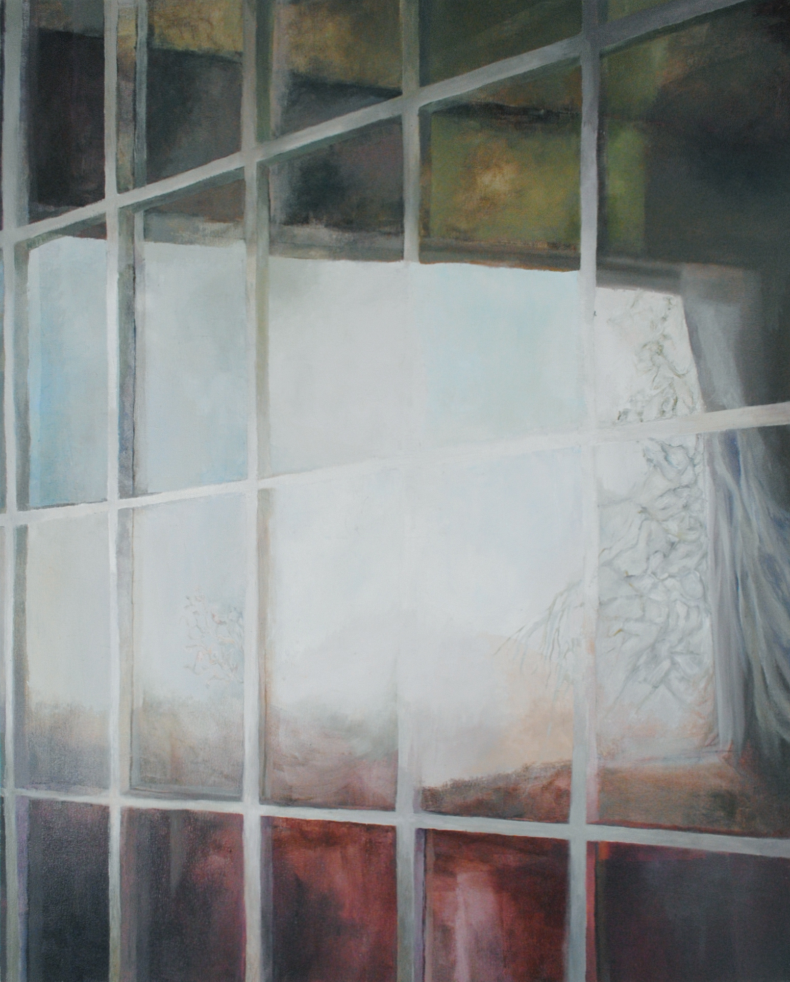 Windows, Oil on Canvas, 36 x 48 inches, 2011