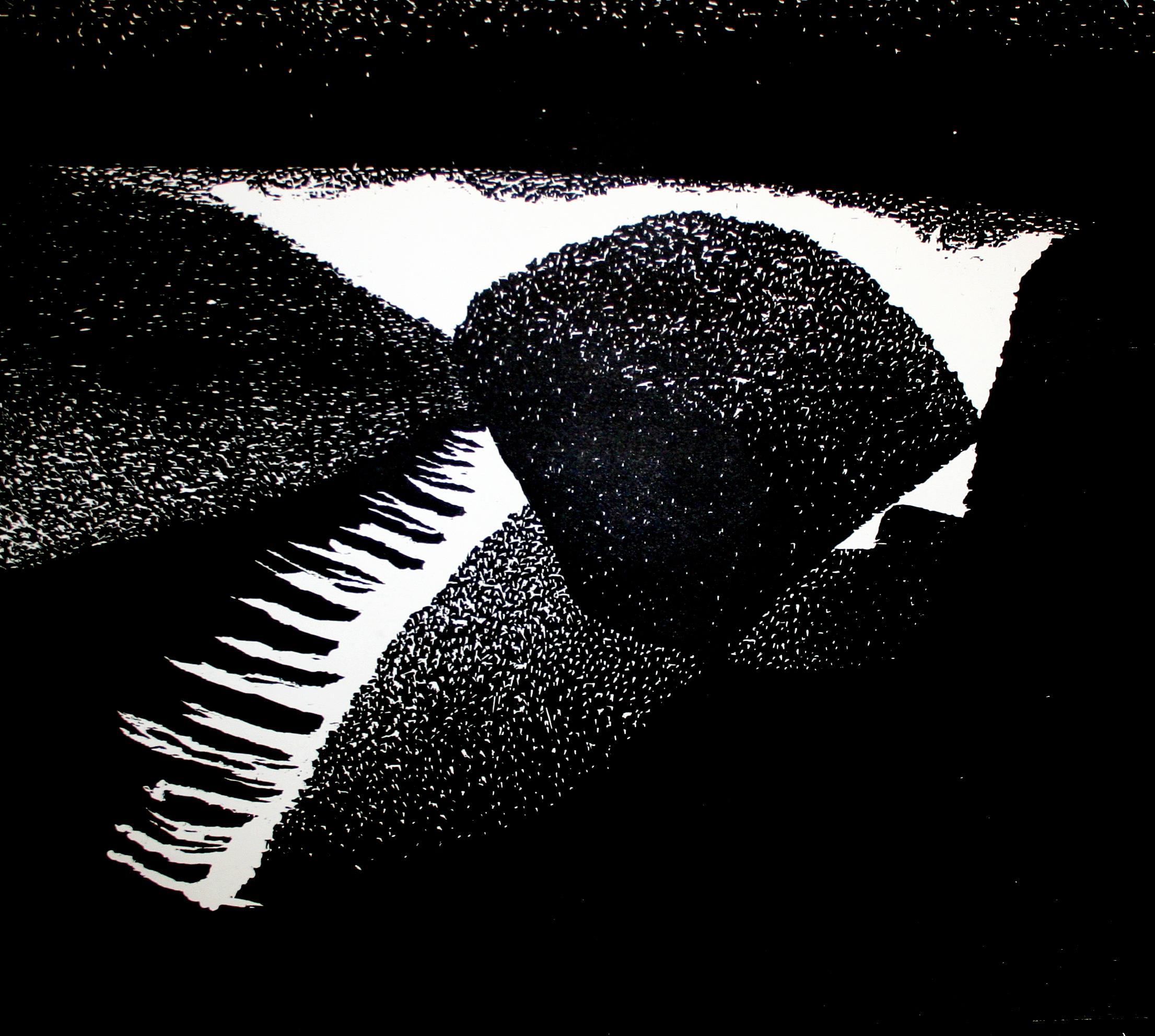 "Glisten, Woodcut, 24 x 26 "", 2014"