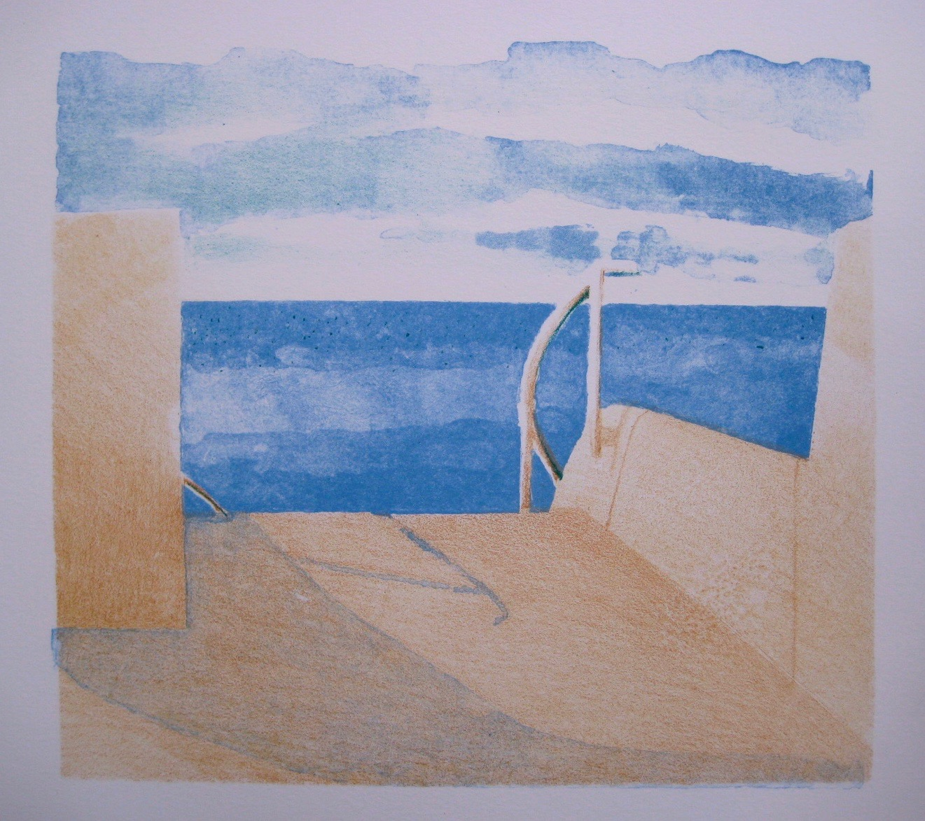 Swamis, 9 x 10 inches, Stone Lithograph, 2014