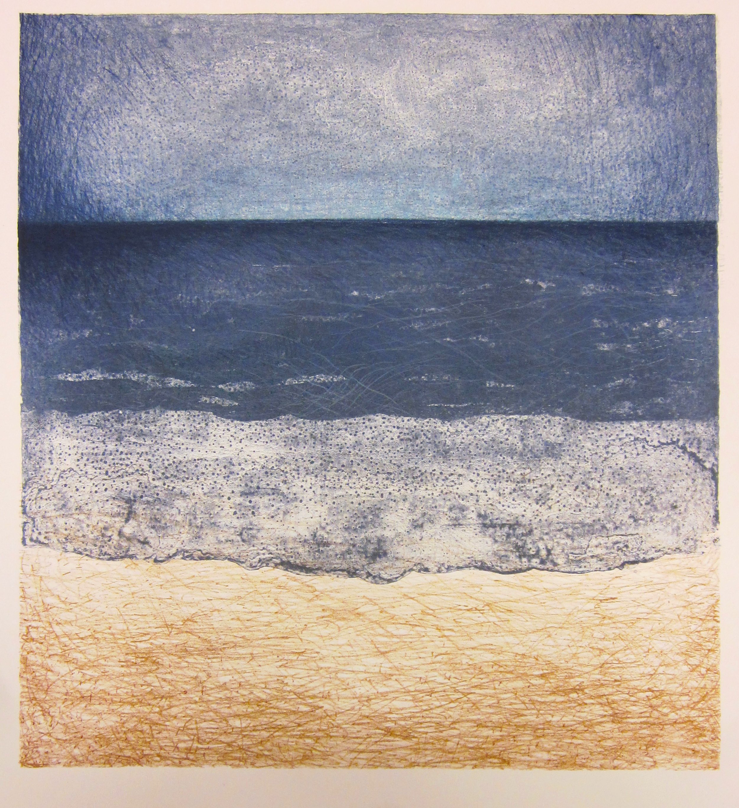 Horizons, Stone and Plate Lithograph, 17 x 15 in, 2013