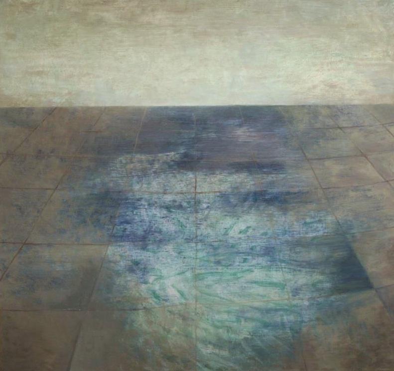 Sidewalk/Ocean, Oil on Canvas, 36 x 36 inches, 2013