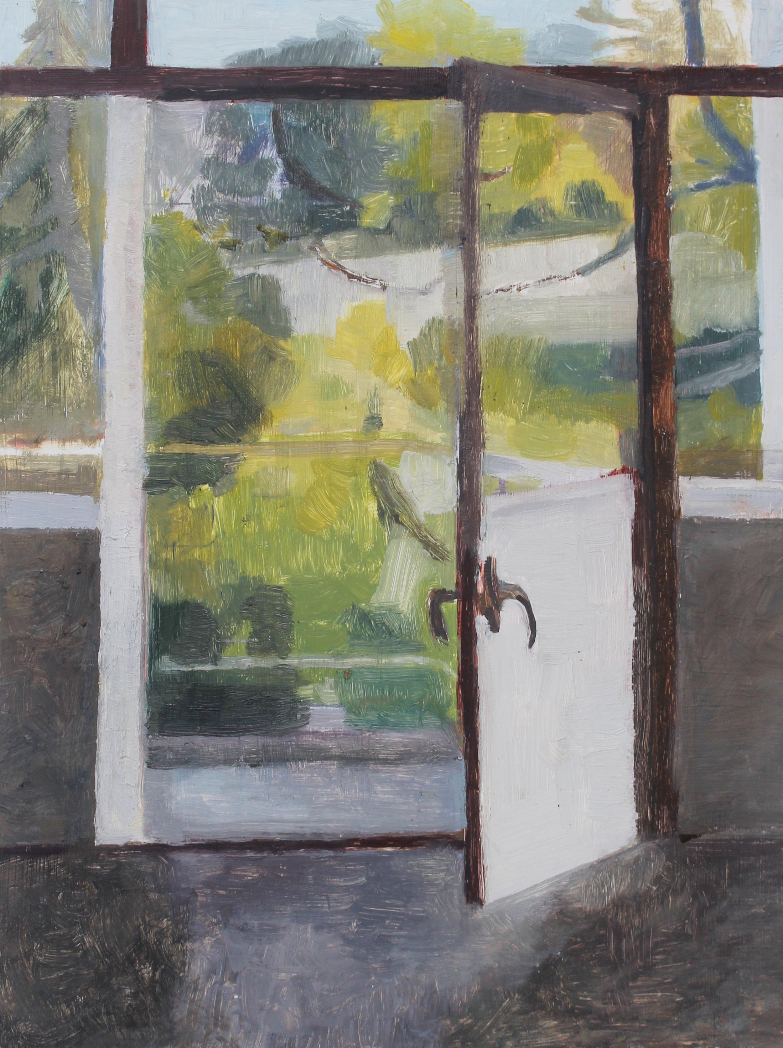 Doorway to balcony, Oil on panel, 12 x 9 in, 2013
