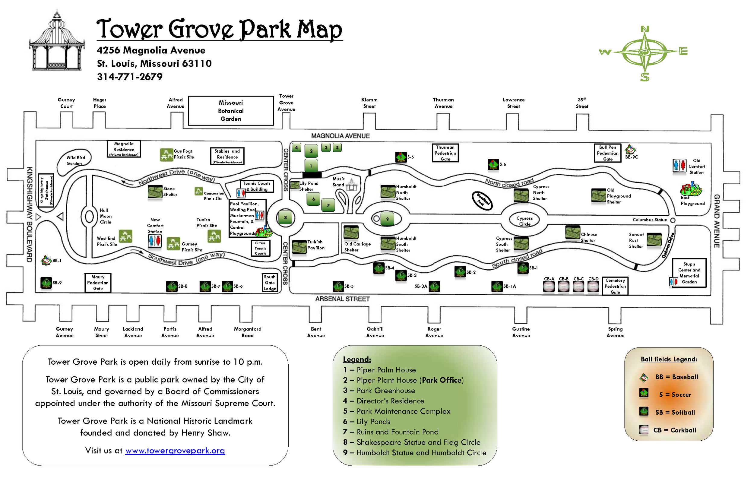Tower Grove Field Map