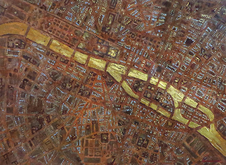 Map of the River Seine, Paris