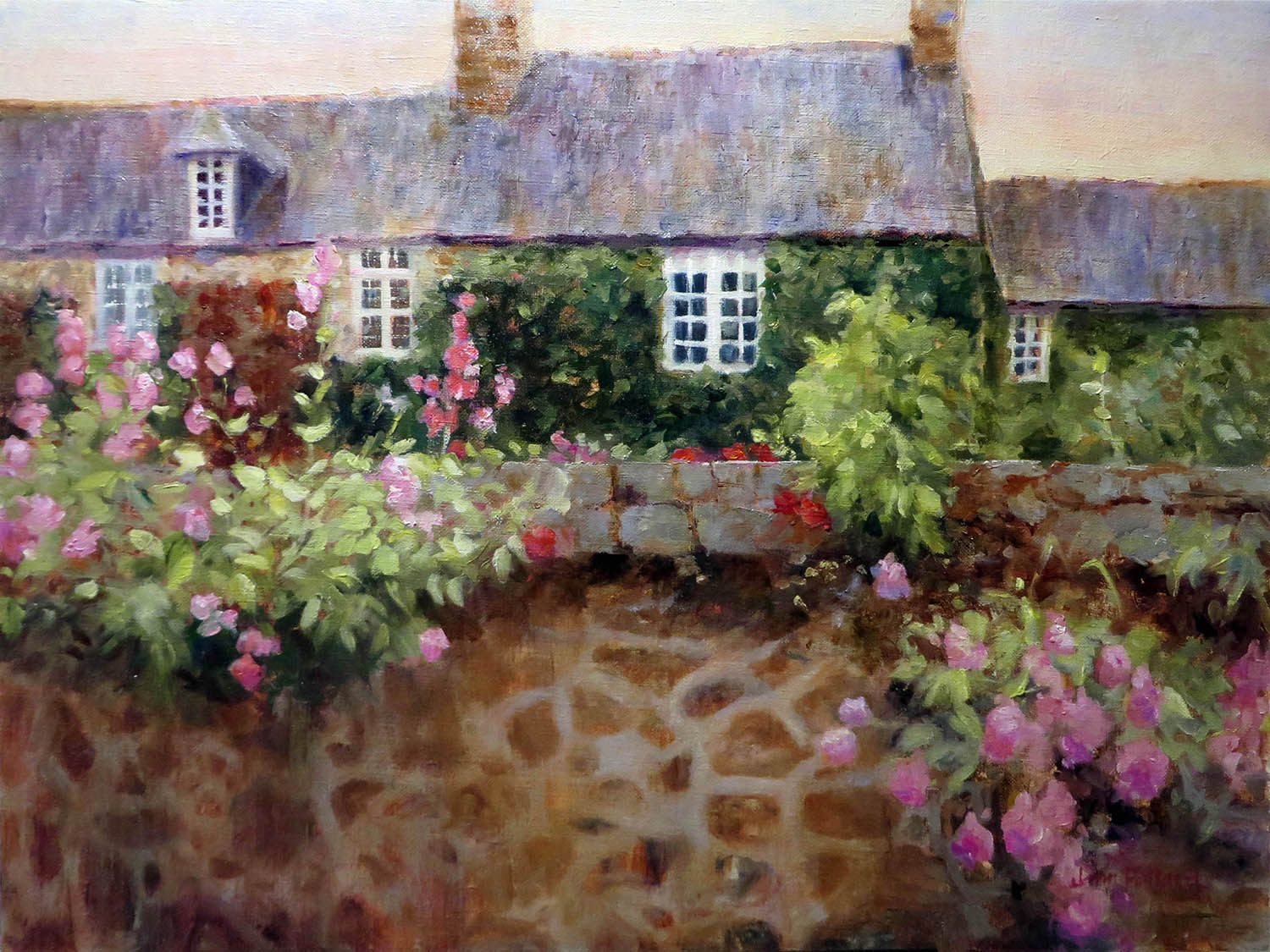 Normandy Cottage Stone Wall