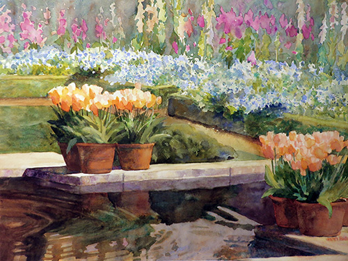 Filoli's Sunken Garden