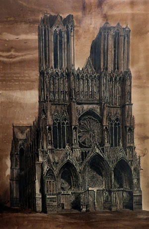 Notre Dame Cathedral, Paris, France, 28 x 17""