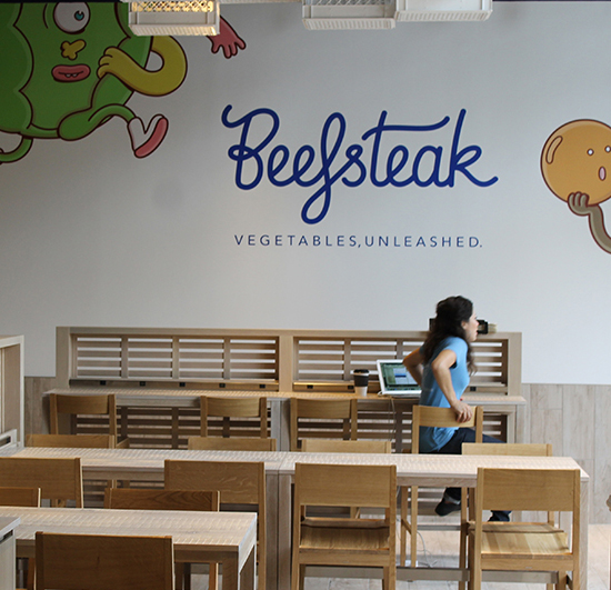 "Beefsteak by José Andrés ""Vegetables Unleashed""    Brand strategy and brand identity creation of celebrity chef-driven fast casual concept. Beefsteak Beefsteak has 5 locations in Maryland, Pennsylvania and DC, and raised $9.25M in venture capital in 2015."