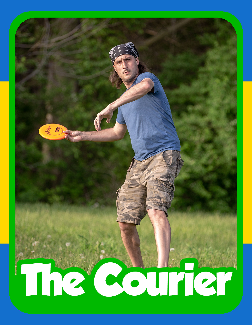 Pete Stuttgen - A man who makes his living with timely deliveries, The Courier's only thought is beating his opponents to his destination. His determination allows him to ignore the competition and play free of any pressure from the other players. Even the Commissioner of the league has fallen victim to Pete's hunger for victories (numerous times). Although he relies heavily on his forehand, don't be fooled, a course has yet to keep the Courier from making his delivery and besting all competitors in the field.