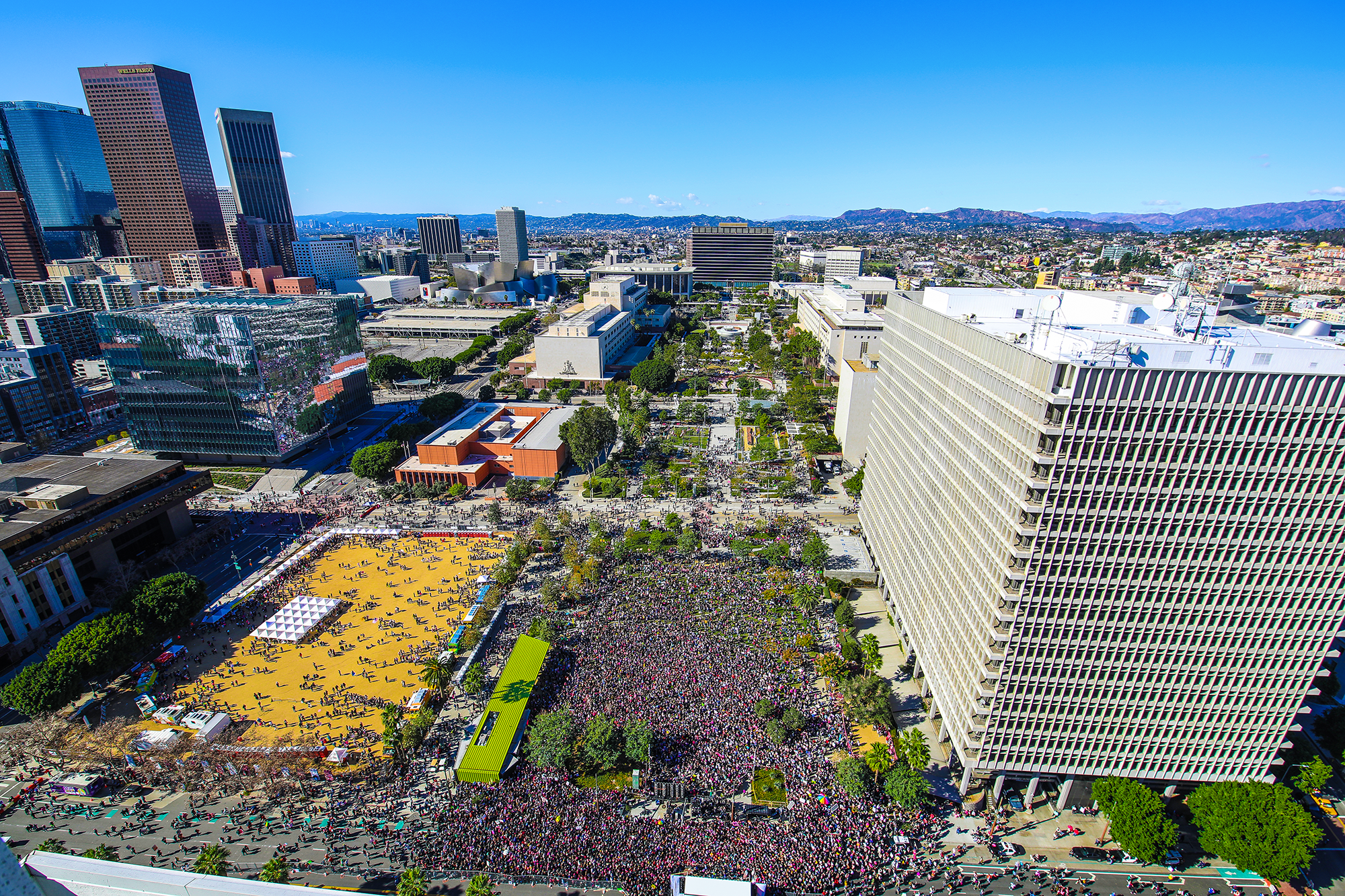 The RCH-designed Grand Park was the site of the 2018 Women's March in Los Angeles.
