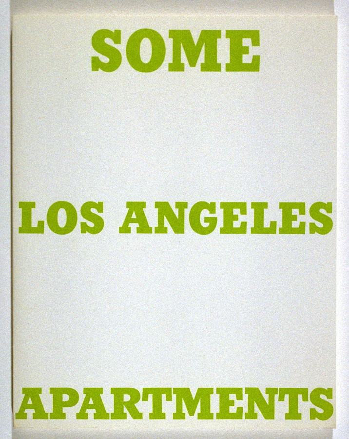 Some Los Angeles Apartments, Ed Ruscha. 1965.