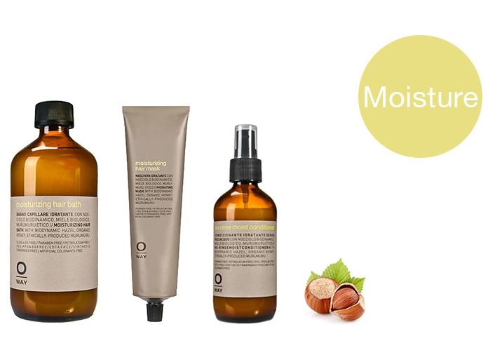 Moisturizing. For dryness and damage. Hair Bath $28 | Mask $32 | No Rinse Conditioner $34