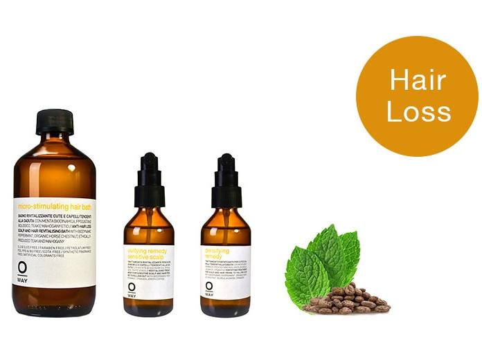 Micro-Stimulating. For thinning hair. Hair Bath $32 | Densifying Scalp Spray $70