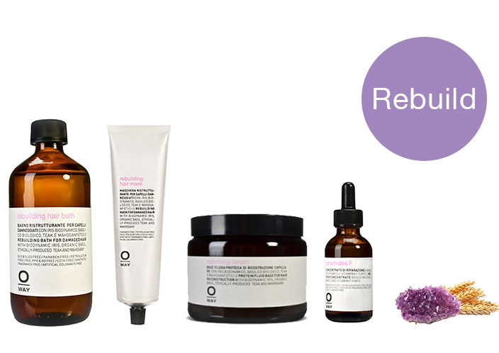 Rebuilding. For very compromised hair. Hair Bath $32 | Mask $34