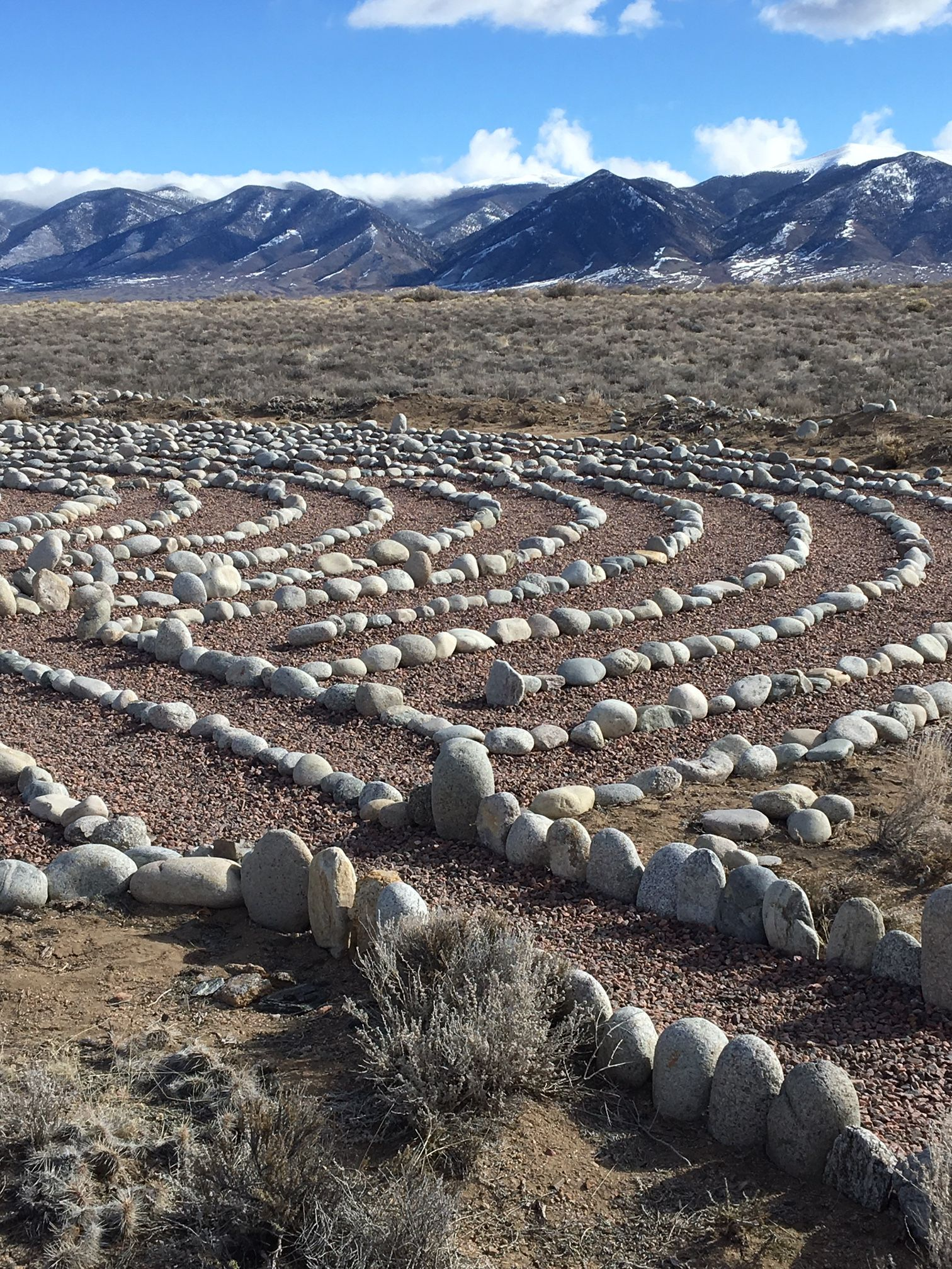 The walking labyrinth at Joyful Journey Hot Springs Spa