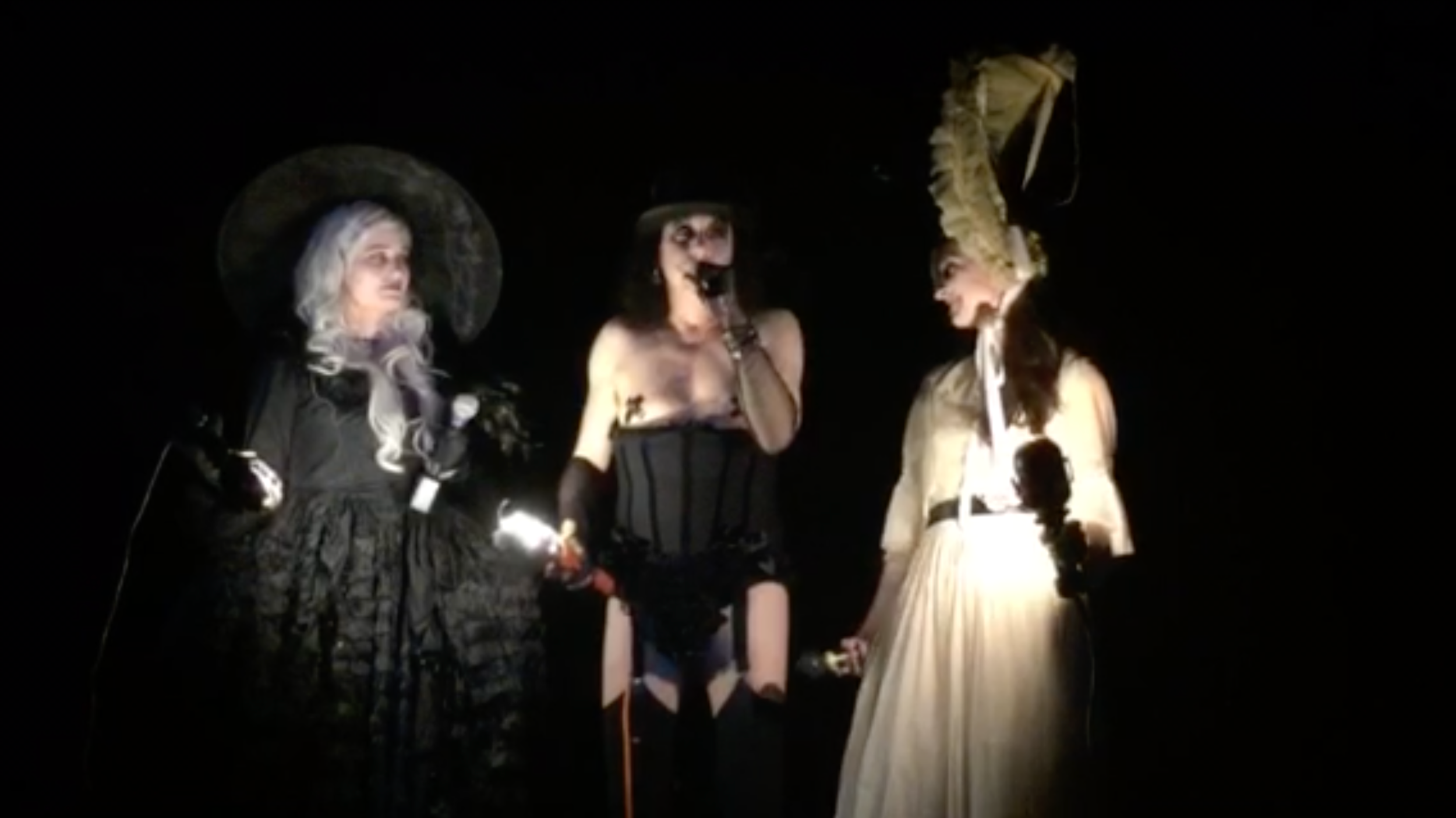 The Graveyard Cabaret , dir. Rosey Hay. {{REV Theatre + Laurel Hill Cemetery}}