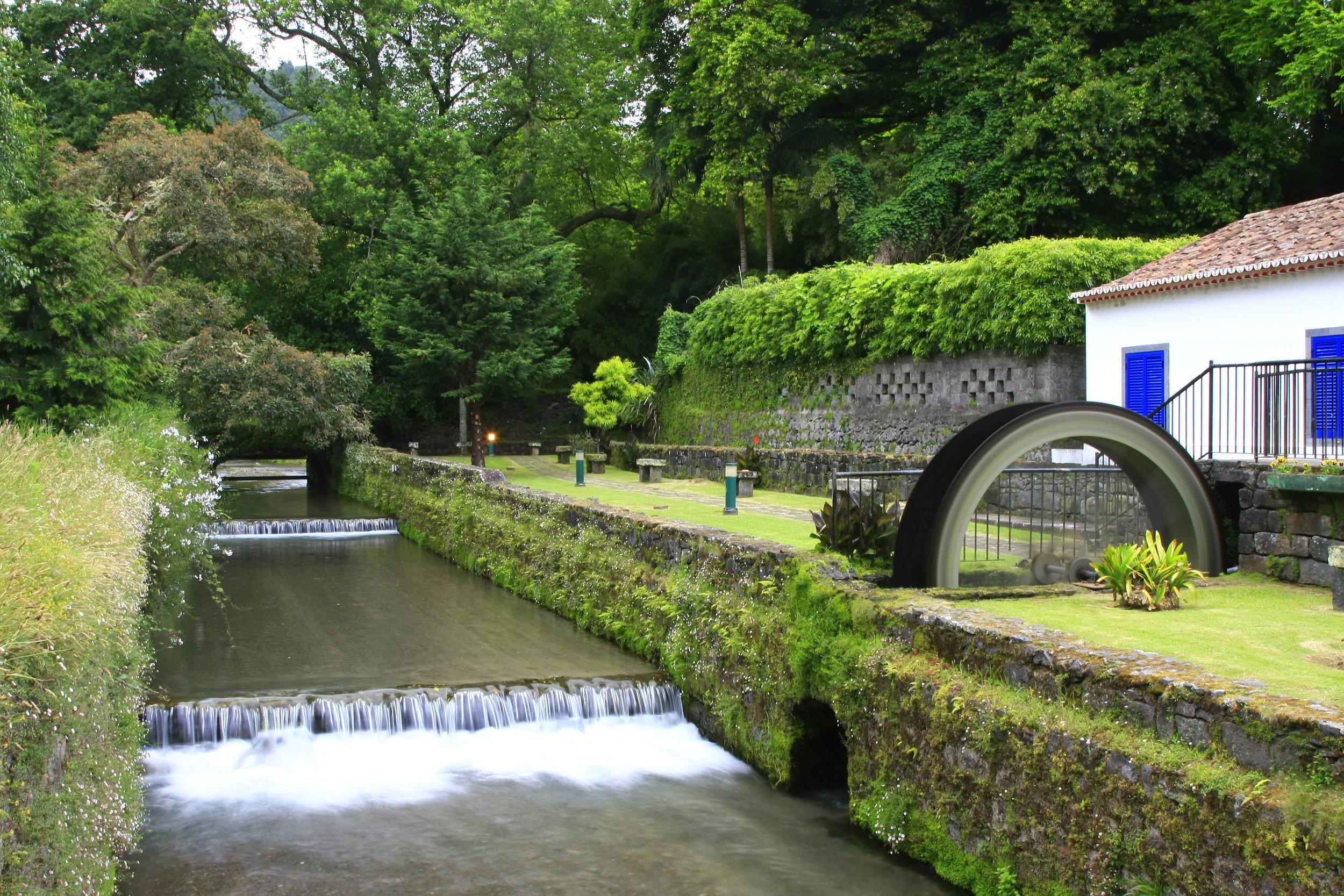 Watermill and babbling brook, Furnas