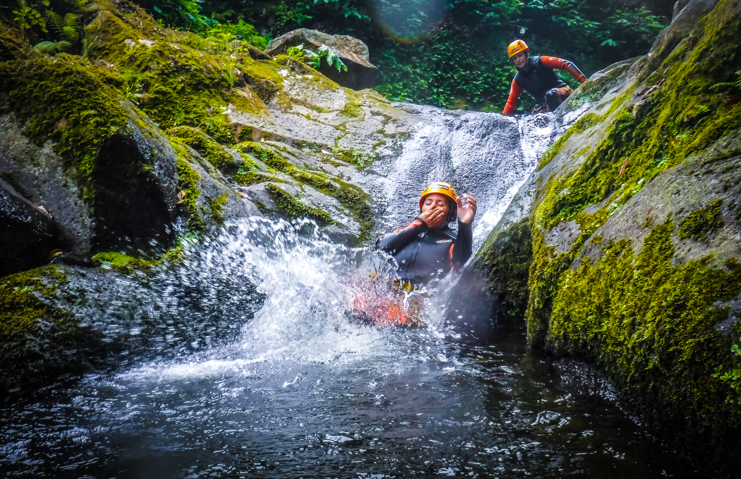 Azores Canyoning, water shoot - Azores Connections.jpg