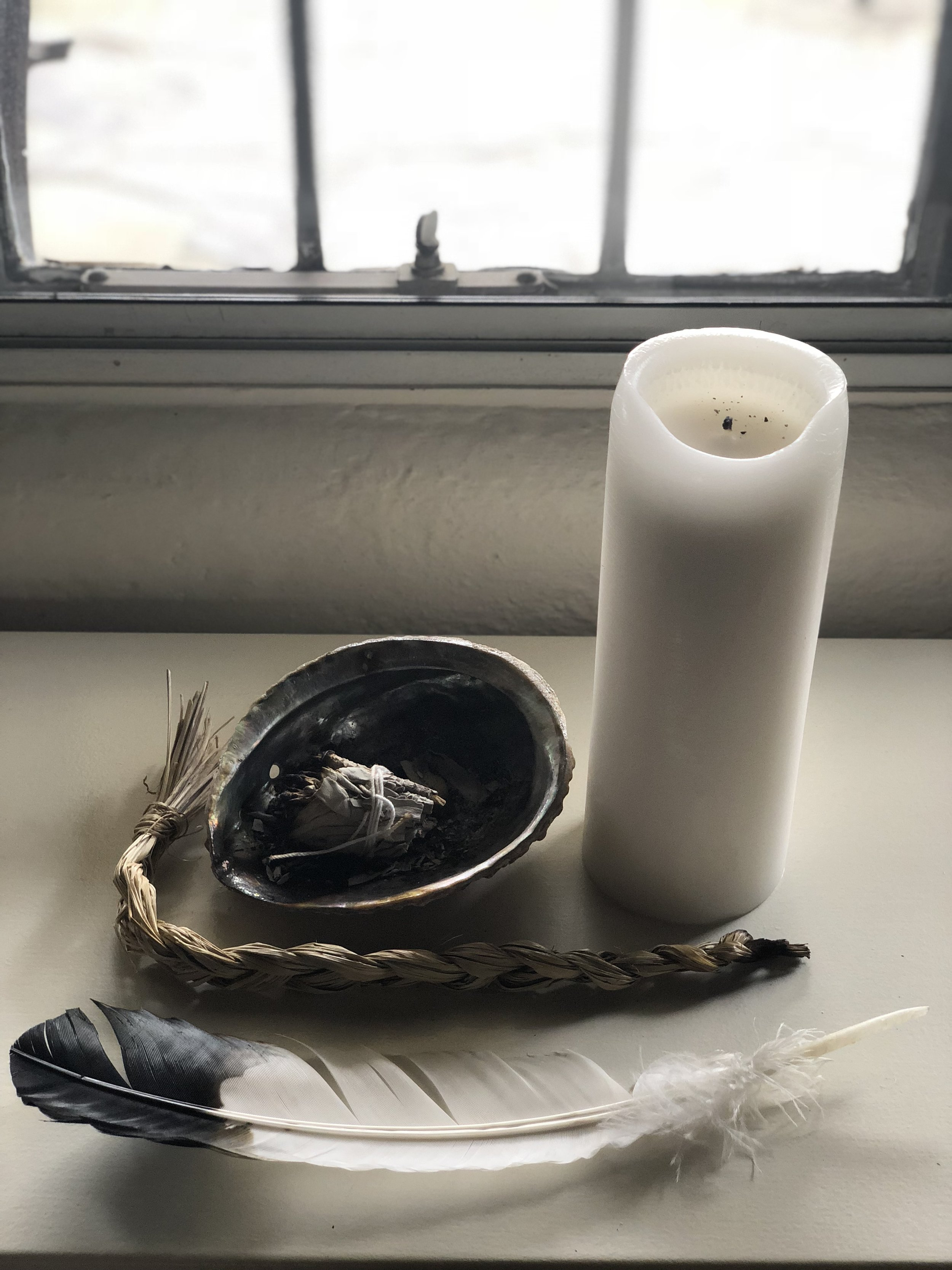 Supplies for cleansing your space