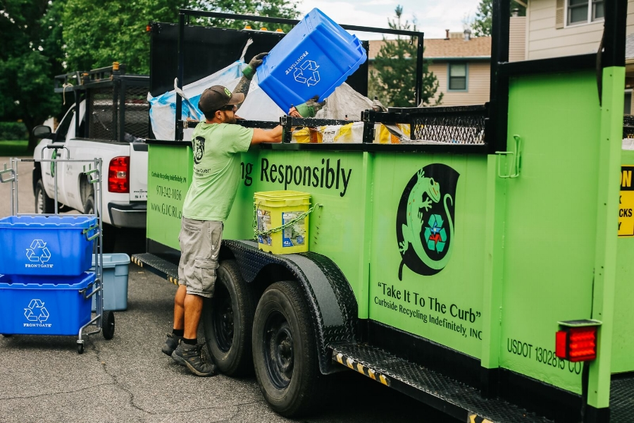 CRI received a state grant to purchase a new residential curbside collection trailer. The new trailer allows them to serve an additional 100 customers, and divert 58,500 pounds of recyclables from the Mesa County Landfill.
