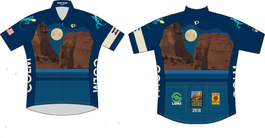 The 2018-19 Colorado National Monument bike jersey.