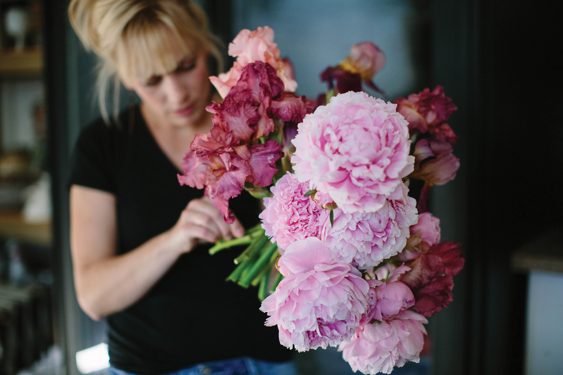 3 Leaf Floral peonies and iris_Cat Mayer