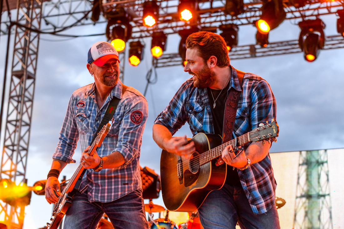 Chris Young + CJ Berzin play Country Jam. All photos courtesy Country Jam
