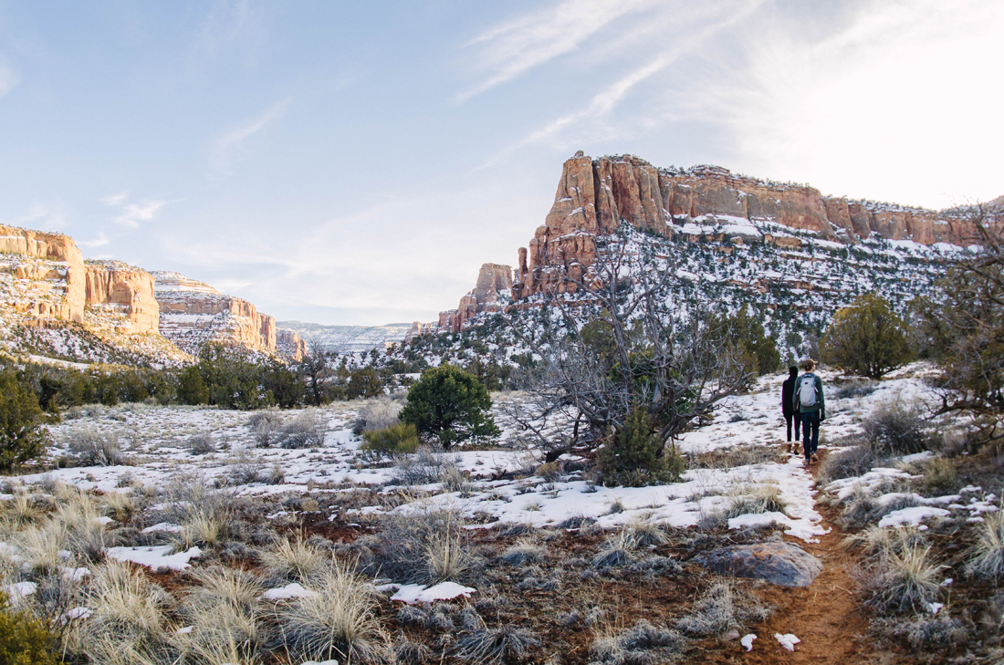 Devil's Canyon Trail D3 after a fresh spring snow. Photo: TJ Smith