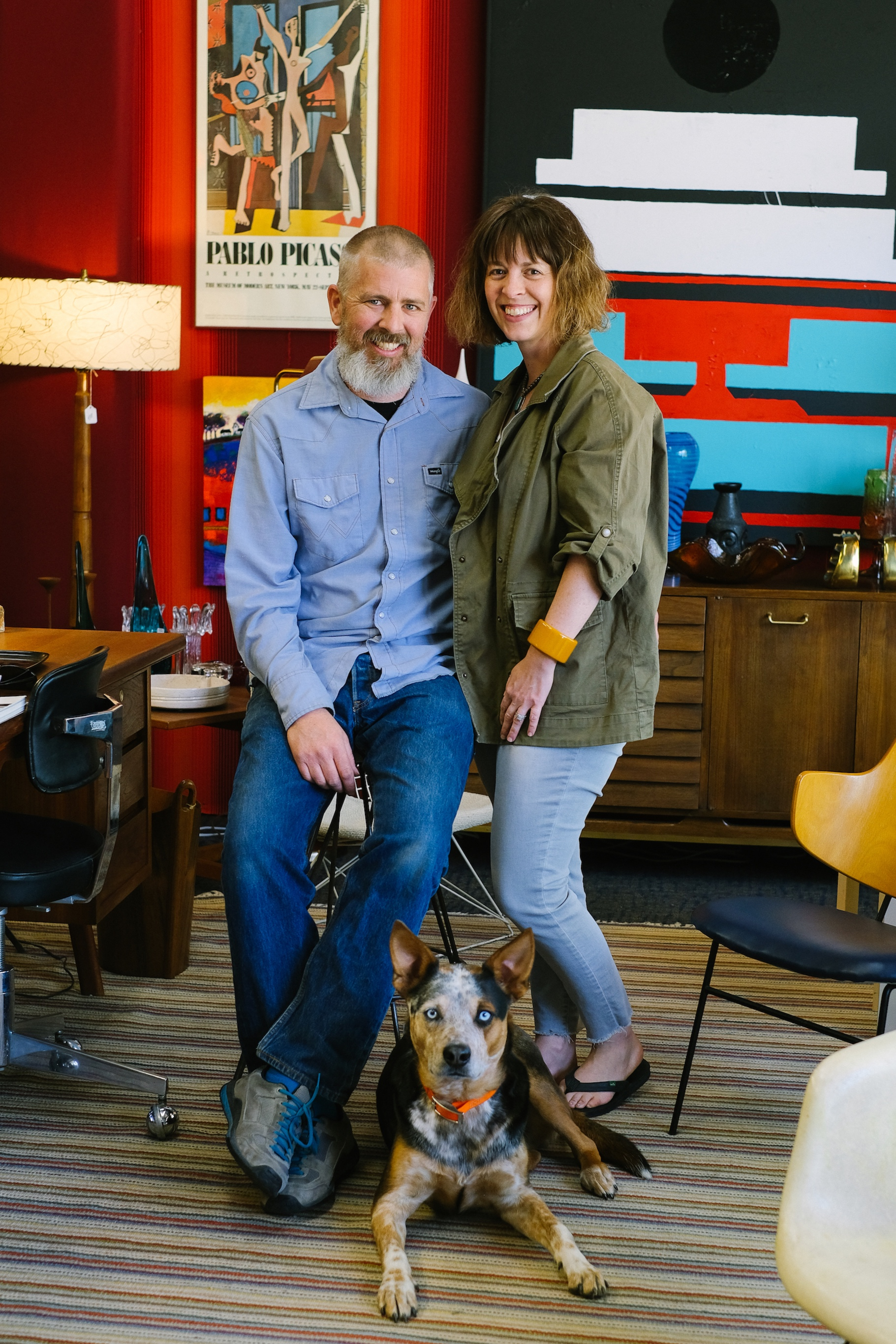 The author and her friend Fred and their dog at High Desert Authentiques, 518 Colorado Avenue, Grand Junction. Contact the store at 970.985.4096 or @highdesertauthentiques.