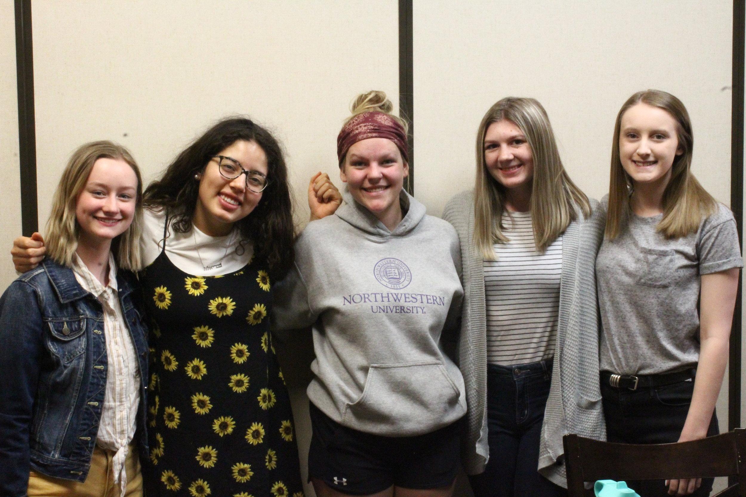 PHOTO: JORDAN CHAVEZ  L to R: Founders Rebecca Dilbeck, Gabriela Reitz, Annika Johnson, Katie Fry, and Johneth Price