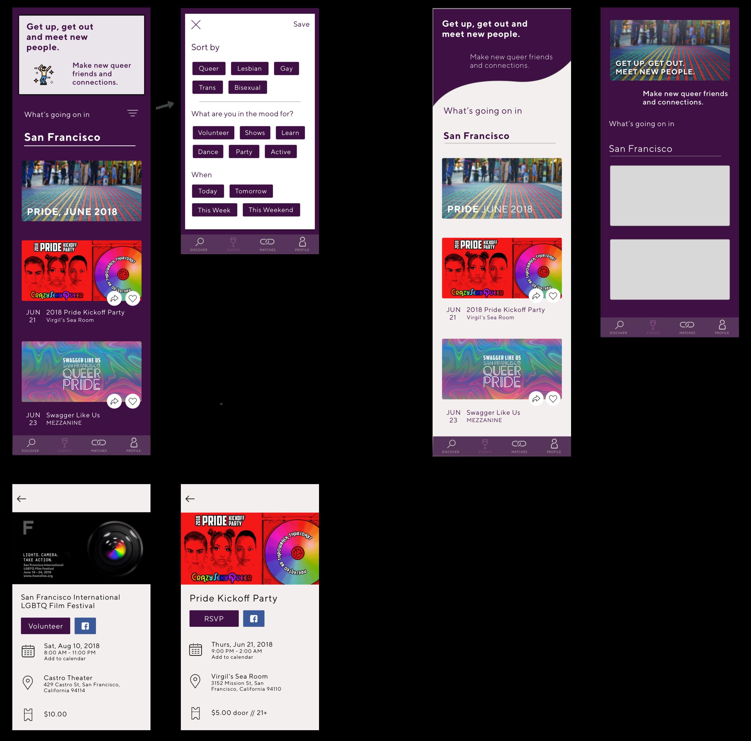Queerio | Founder | UX & UI Mobile Design — Shruti Desai