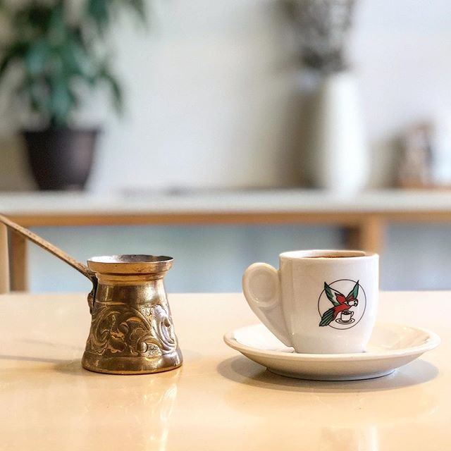 Sip slowly on a Greek coffee and be energized for days #greekcoffee #turkishcoffee #avli #avligreekkafe #bayside #bellblvd #queenseats #nyceeeeeats #nyceats #nycfoodie