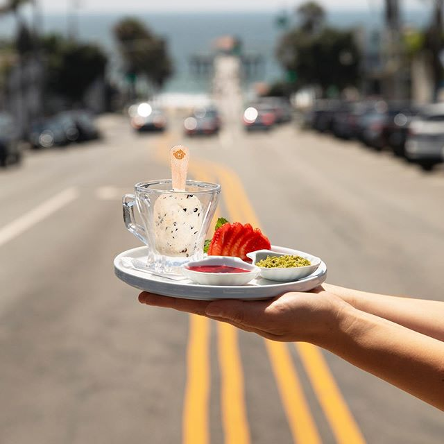 Sometimes, it truly is about the destination. 😉 Take a sweet journey to The Izaka-Ya  by @katsuyagroup in Manhattan Beach, where you can find @halotopcreamery treats on their dessert menu!