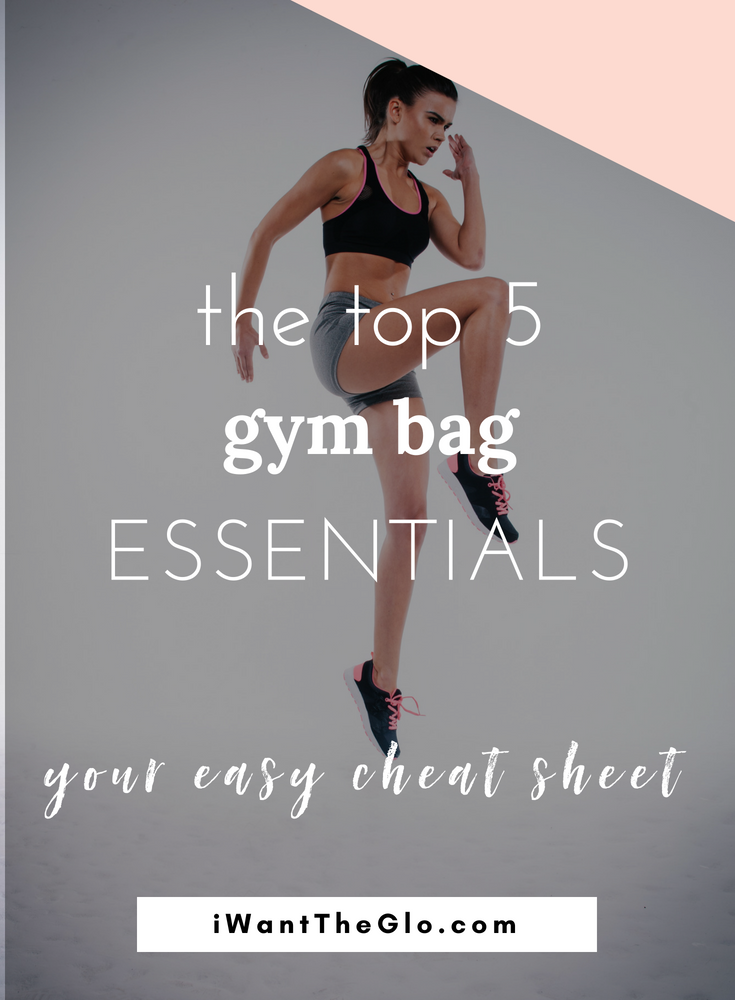 Ever feel like you haul around the contents of your bathroom sink in your gym bag? Yeah, me too (see my  prior post  about shoulder pain caused by gigantic gym and work bags). So, I started over.  Like dumped out my entire gym back contents and only added in the essentials - which ended up being 5 things. Here is my easy cheat sheet of what you should always have stashed in your gym bag. It'll save you during those rough early mornings when you only have a minute to pull it together.