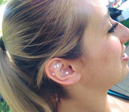 ear seeds swarovski crystal