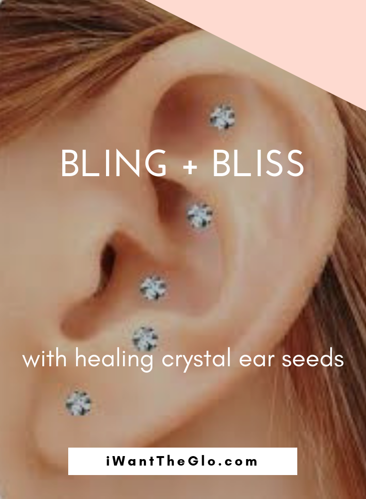 Bling! Bling! Ear crystals are an excellent and beautiful way to treat a variety of symptoms that may be ailing you.  Some of the most common things people get ear crystals for are: weight loss, increase energy, insomnia, general aches and pains, menopause, stiff neck, back pain, anxiety, stress, addiction, quitting smoking, and digestion issues.  Ear crystals are made of 24k gold and Swarovski crystals. They work by stimulating specific acupuncture points in the ear customized for each individual's specific wants and needs.  Auricular therapy can be used alone or in addition to an acupuncture treatment or cupping therapy. When applied after acupuncture or cupping, ear seeds help extend the benefits of your in-office treatment and promote the continued feeling of wellness while you are between visits.
