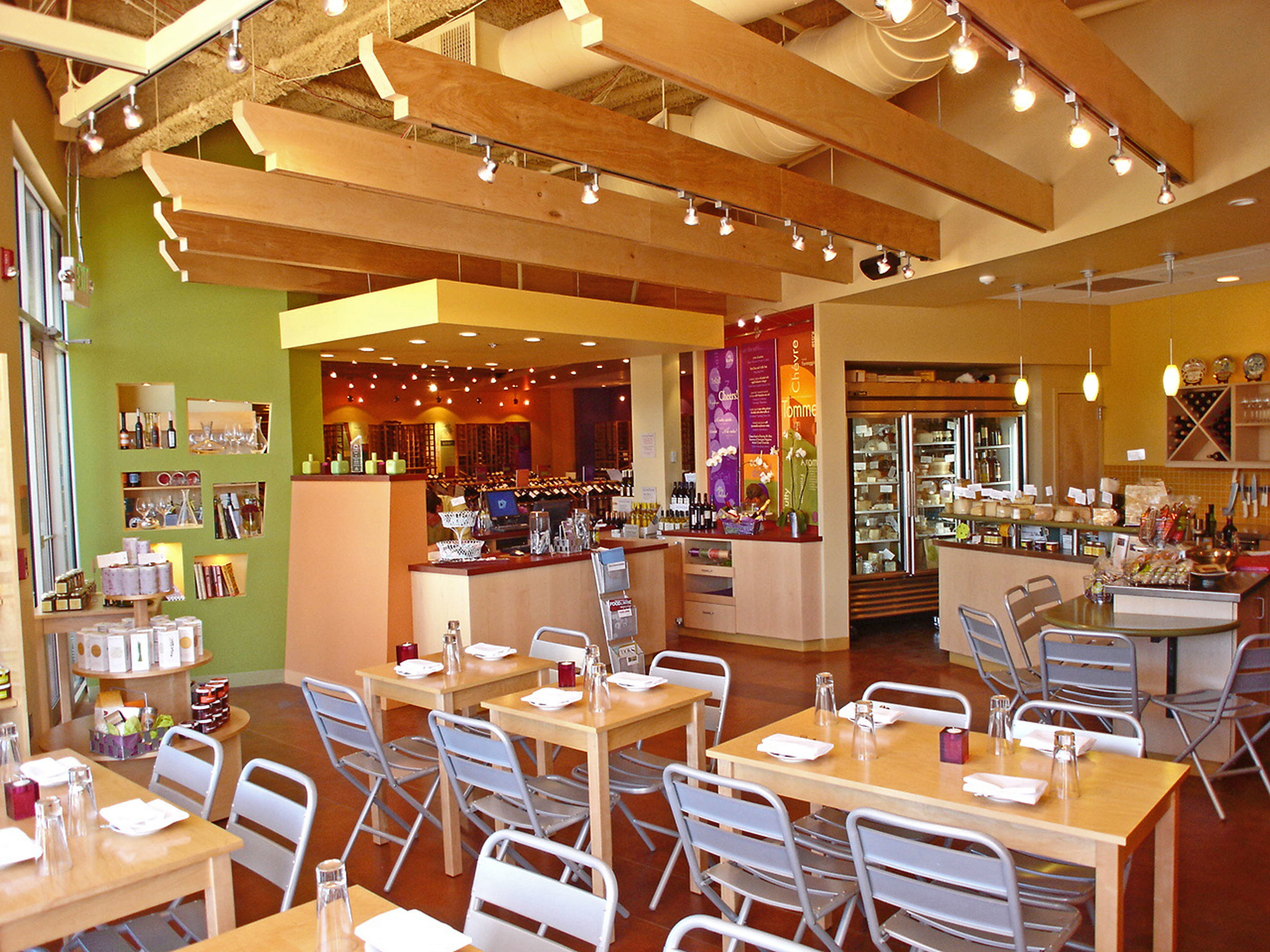 Interior restaurant space