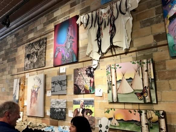 2017 Blackfeet Art Show at Stumptown Art Studio.