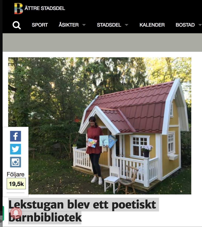 Bättre Stadsdel: - Tack så mycket för den fina artikeln om oss!
